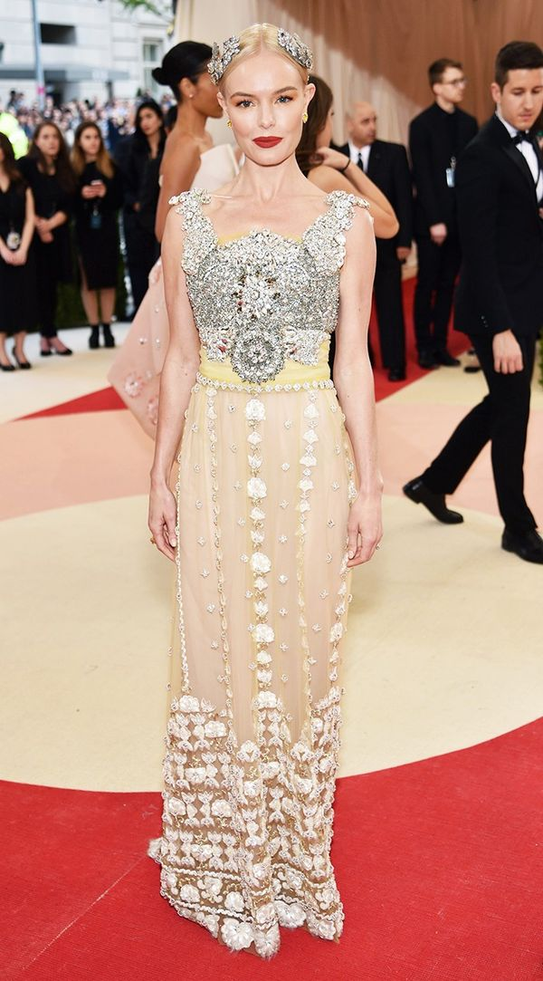 WHO:Kate Bosworth WEAR:Dolce & Gabbana gown.