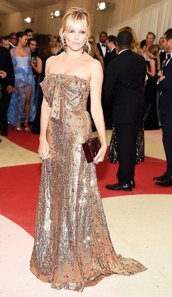 WHO: Sienna Miller WEAR: Gucci gown.