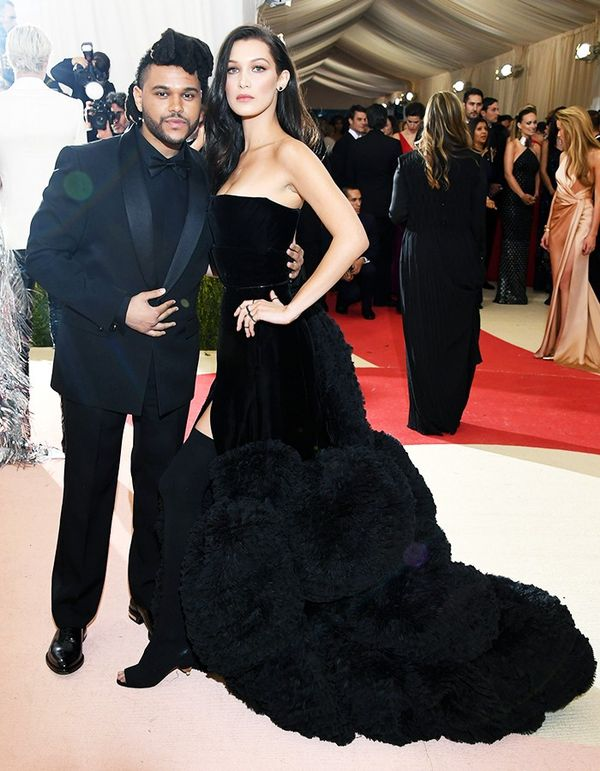 WHO:The Weeknd and Bella Hadid WEAR: Givenchy gown.
