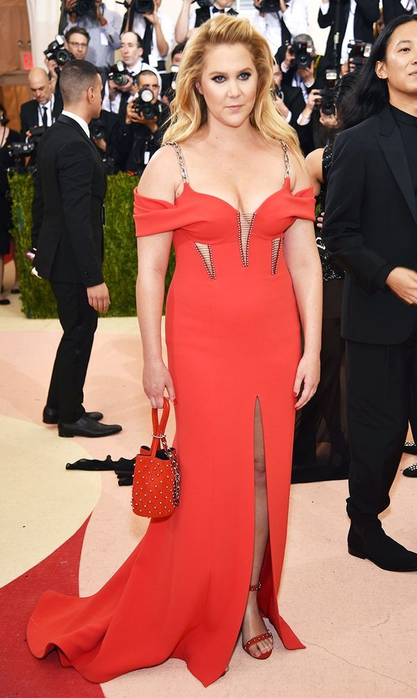 WHO: Amy Schumer WEAR: Alexander Wang gown.