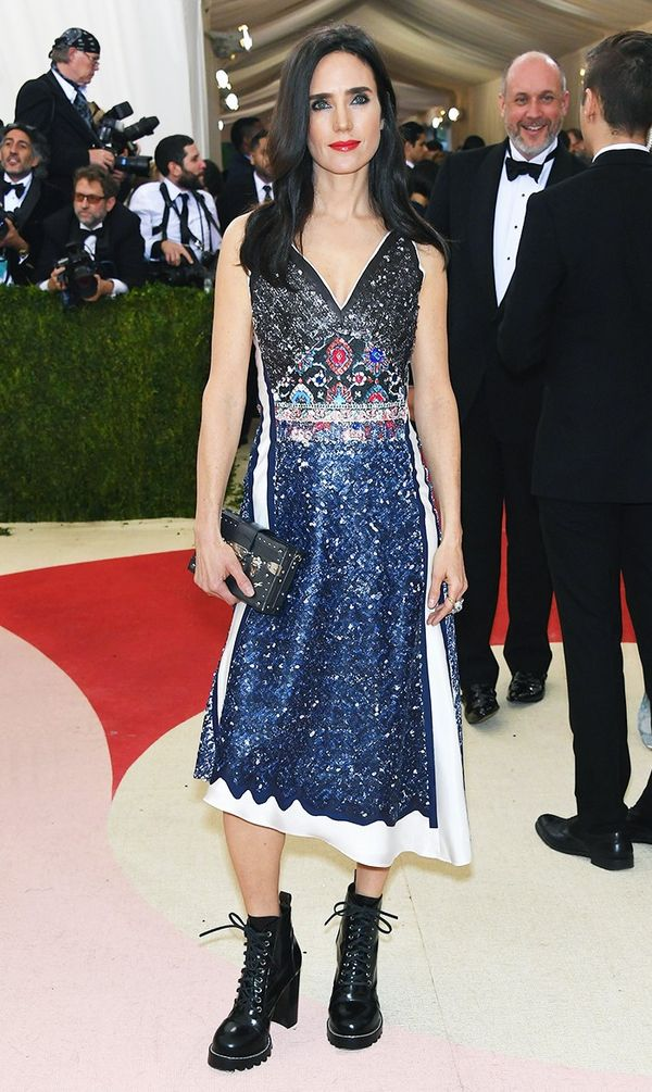 WHO: Jennifer Connelly WEAR: Louis Vuitton dress.