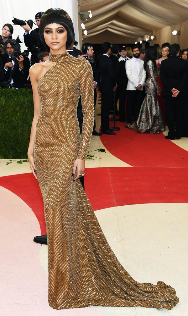 WHO: Zendaya WEAR: Michael Kors Collection gown.