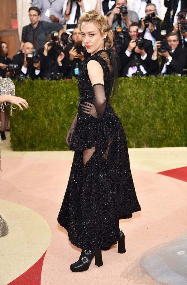 WHO: Chloe Sevigny WEAR: Simone Rocha gown.