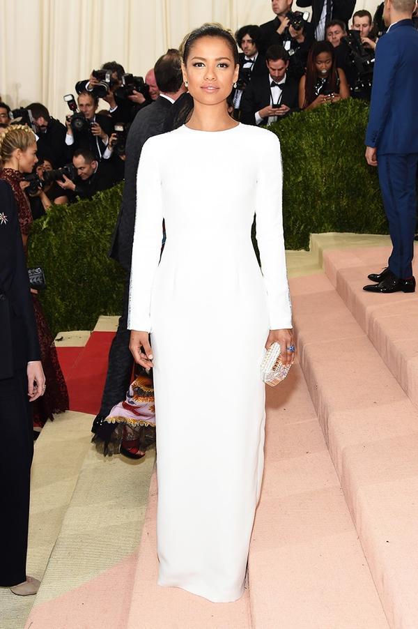 WHO: Gugu Mbatha-Raw WEAR: Gabriela Hearst gown.