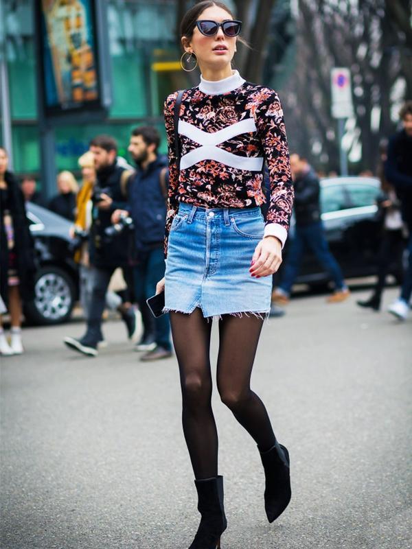 Denim Miniskirts
