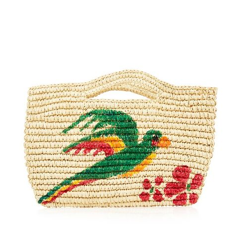 Macaw Hand-Painted Mini Bag
