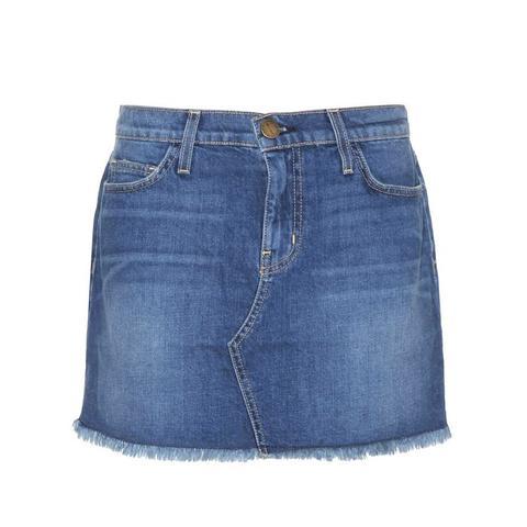 The Cut-Off Denim Miniskirt