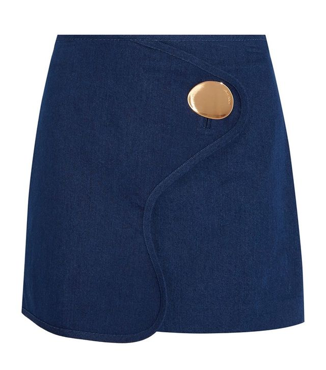 Opening Ceremony Button Detail Mini Skirt