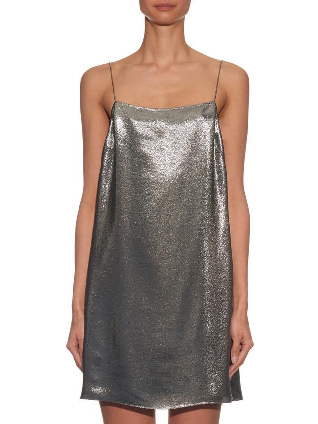 Saint Laurent Square-Neck Dress