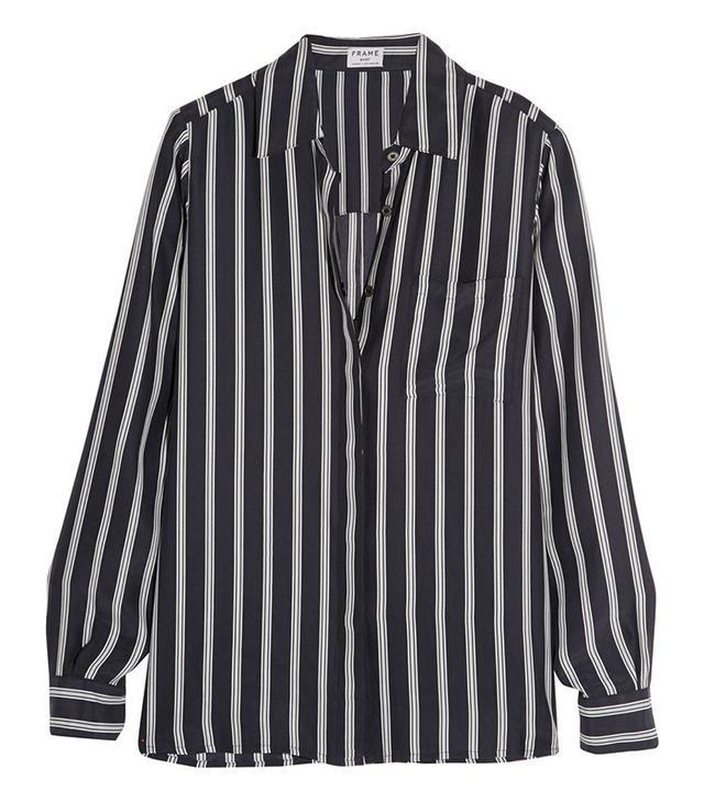 Frame Denim Le Boyfriend Striped Shirt