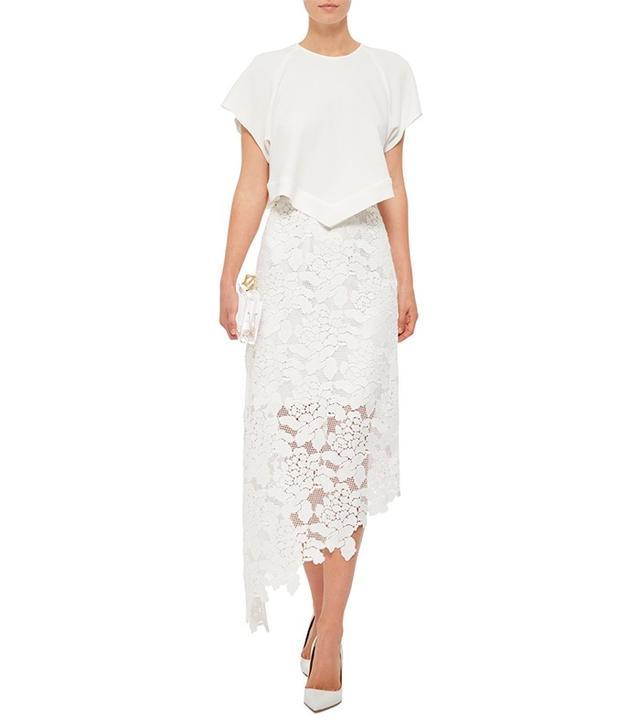Tibi Assymetrical Lace Skirt