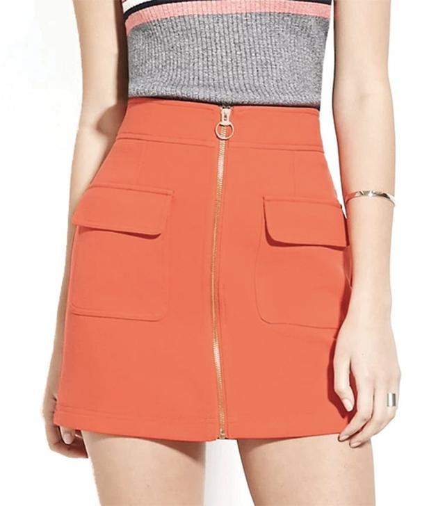 Forever 21 Zip-Front Mini Skirt
