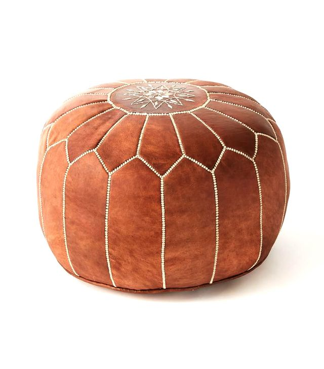 Leather Moroccan Pouf