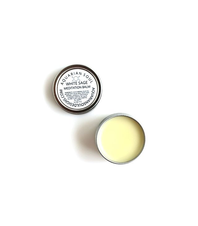 Aquarian Soul + Earth Oils White Sage Meditation Balm
