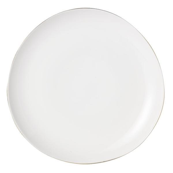 West Elm Organic Shaped Dinnerware - Metallic Rimmed Dinner Plate