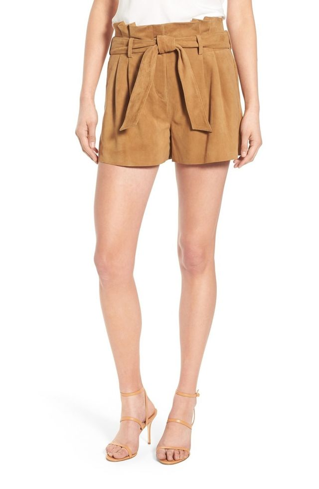 Olivia Palermo + Chelsea28 Belted Suede Shorts