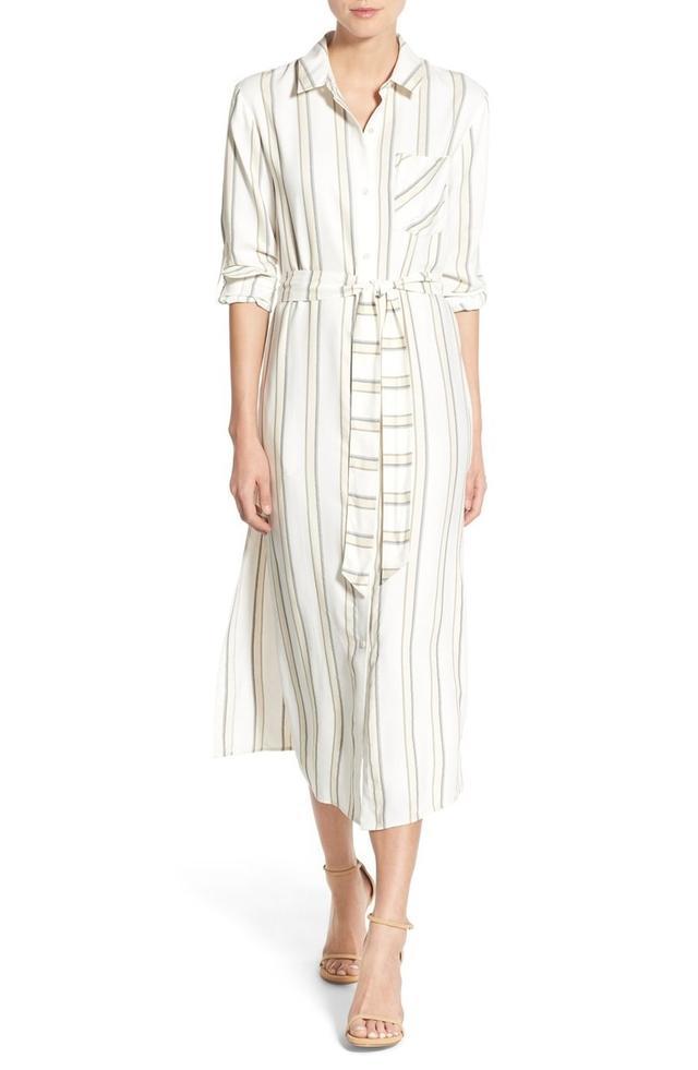 Olivia Palermo + Chelsea28 Stripe Midi Shirtdress