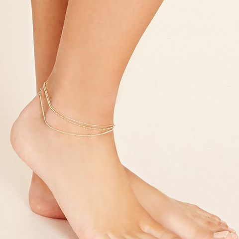 Layered Chain Anklet