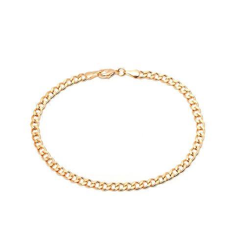 Gold Curb-Link Anklet