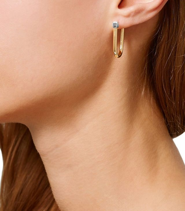 Uribe Willie Gold and Rhodium-Plated Earrings