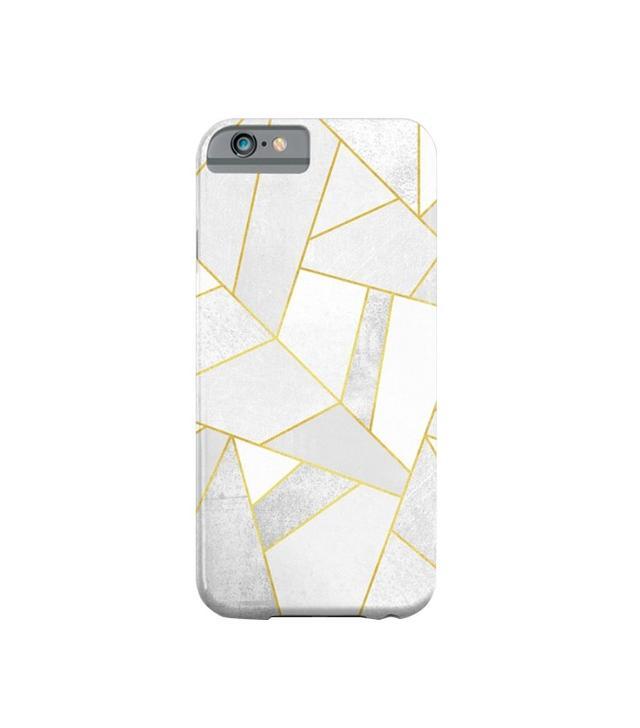 Society6 iPhone 6 Slim White Stone Case