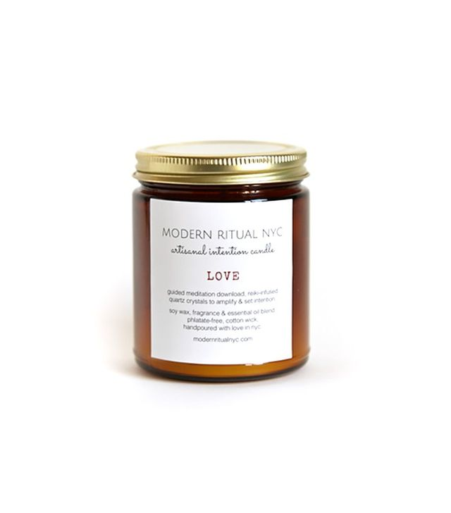 Modern Ritual NYC Love Candle With Energy Crystals and Guided Meditation