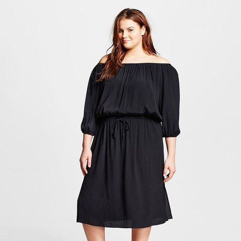 Plus-Size Woven Bardot Dress