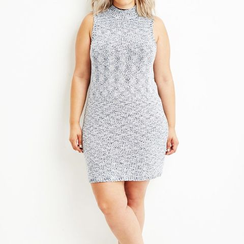 Plus Size Marled Knit Sweater Dress