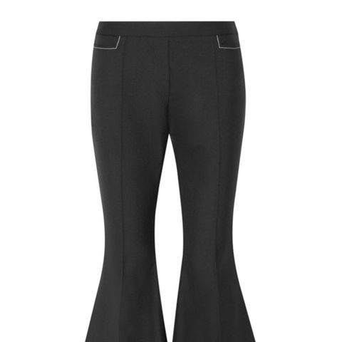 Monet Mazur Cropped Wool Flared Pants