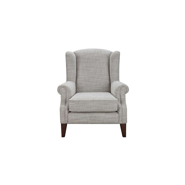 Freedom Classic Wing Armchair in Herringbone Natural