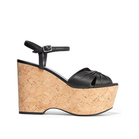 Candy Textured-Leatehr Cork Wedges