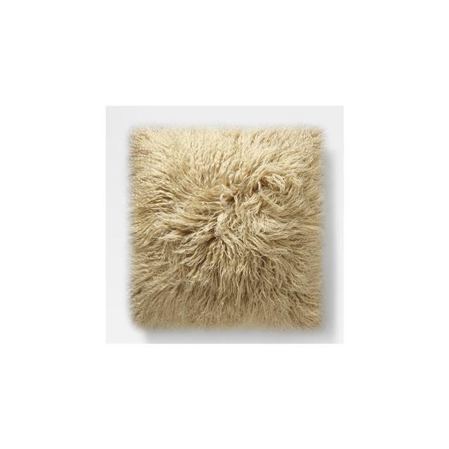 West Elm Mongolian Lamb Cushion Cover - Pebble