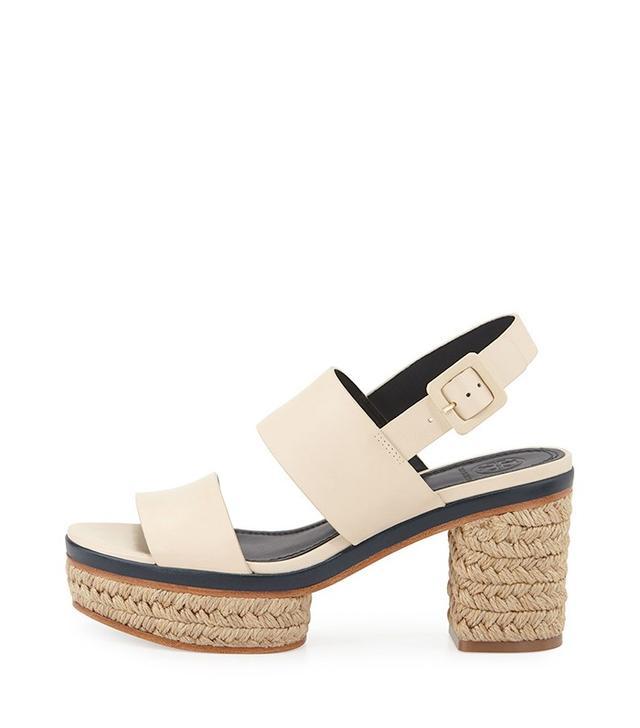Tory Burch Solana-Block Heel Espadrille Sandals