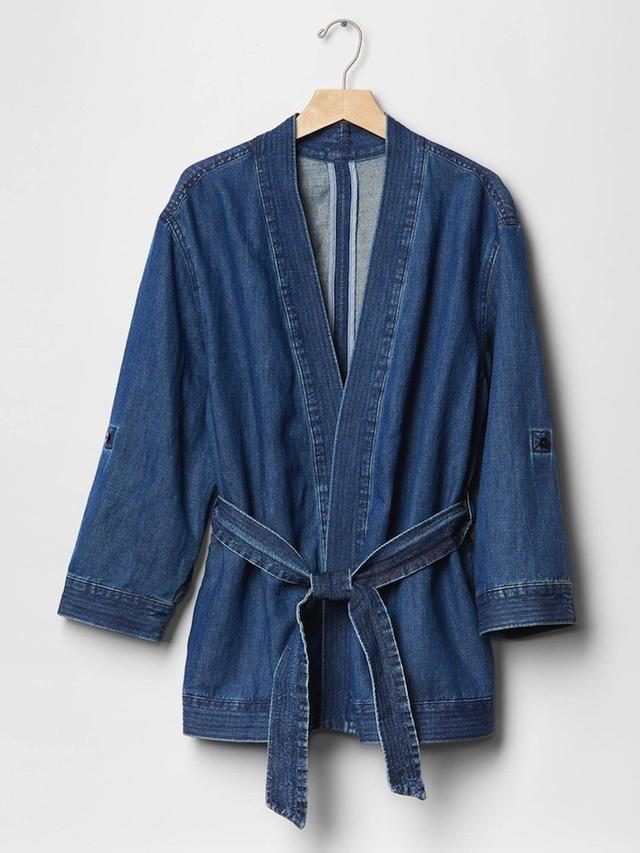 Gap 1969 Denim Kimono Wrap Jacket