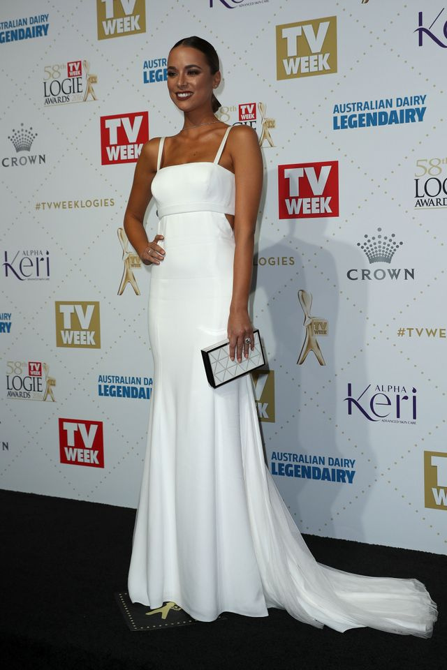 WHO: Monika Radulovic WEAR: Vera Wang dress.