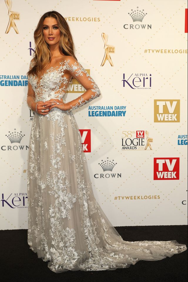 WHO: Delta Goodrem WEAR: Paolo Sebastian dress.