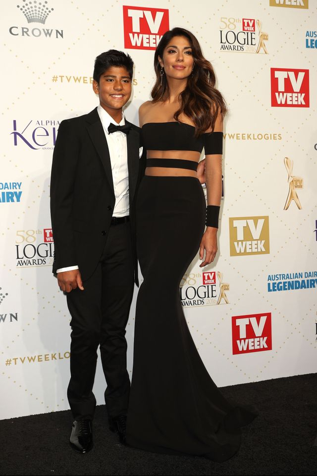 WHO: Pia Miller WEAR: Steven Khalil dress.
