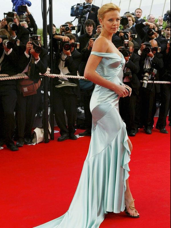 Cannes Film Festival Red Carpet Vintage:  Charlize Theron in Dior