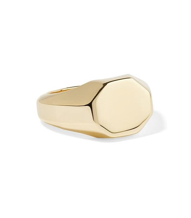 Eddie Borgo Octagon Signet Gold-Plated Ring