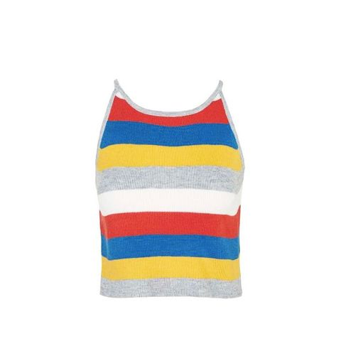 Striped Knitted Cami Top by Glamorous