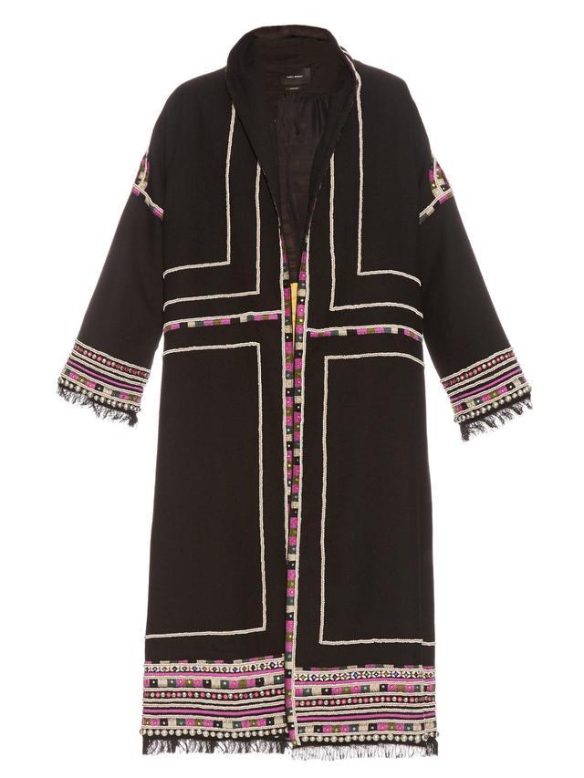 Isabel Marant Bering Embellished Wool Coat