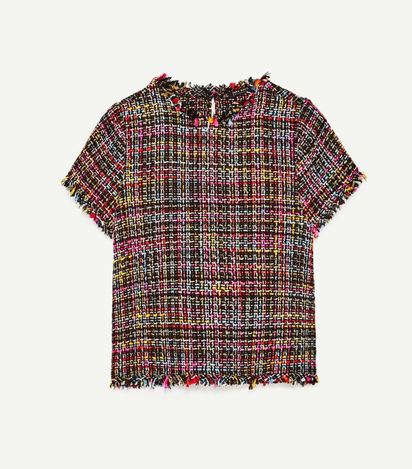 What to Wear Today: Zara check top