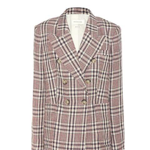 Janey Plaid Linen Jacket