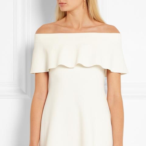 Off-the-Shoulder Jersey Mini Dress
