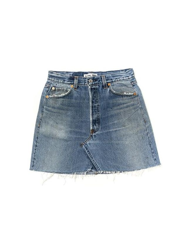 Re/Done | Levi's Launches Its Very First Denim Skirt | WhoWhatWear
