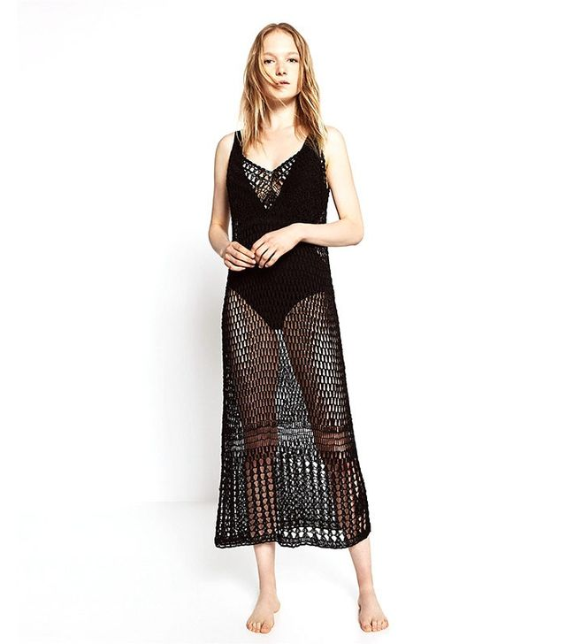 Zara Long Mesh Dress