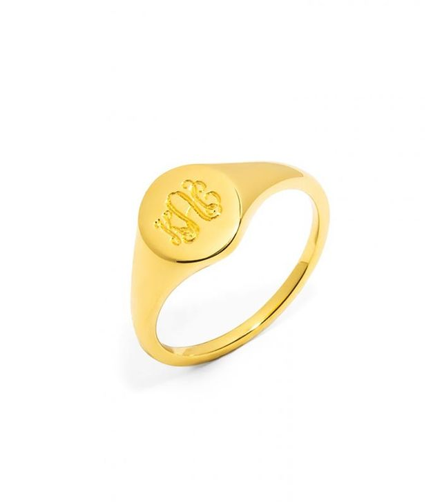 Bauble Bar Oval Signet Ring
