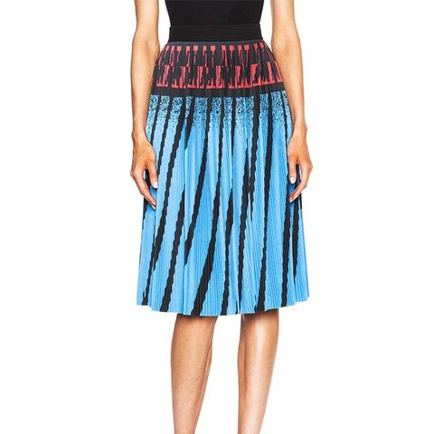 Accordion Pleated A-Line Skirt