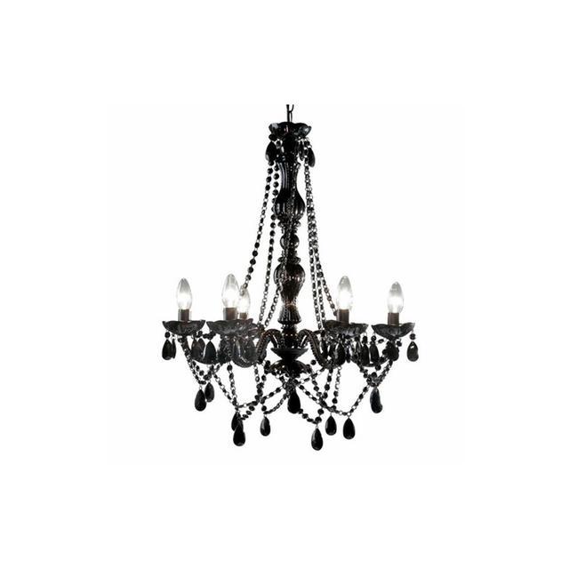 Temple & Webster Romance 6 Light Chandelier Black