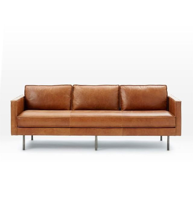 West Elm Axel Leather Sofa